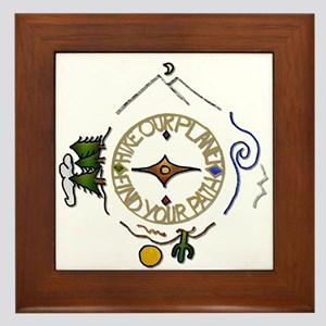 Hiker's Soul Compass Framed Tile