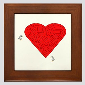 Love Maze Framed Tile