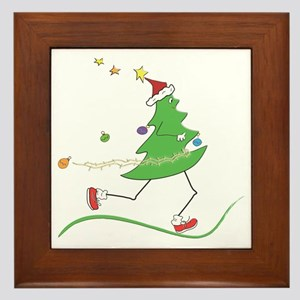 Christmas Tree Runner Framed Tile
