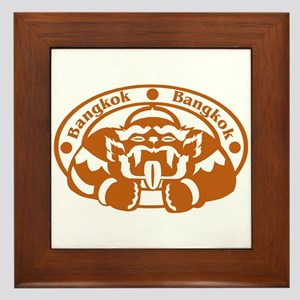 Bangkok Passport Stamp Framed Tile
