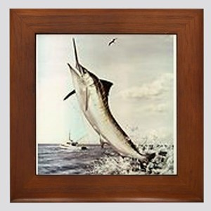 Striped Marlin Framed Tile