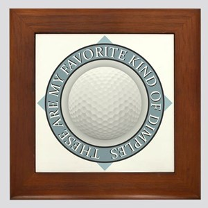 Golf - My Favorite Kind of Dimples Framed Tile