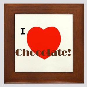 I Love Chocolate! Framed Tile