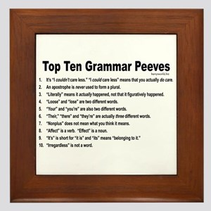 Grammar Peeves Framed Tile