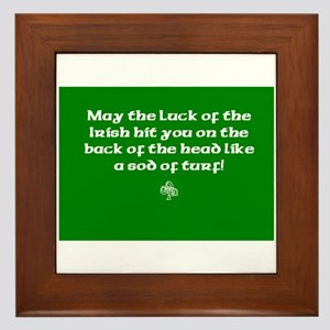 May the luck of the Irish hit you on the head... F