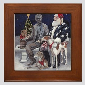 Civil War Christmas in Gettysburg Framed Tile