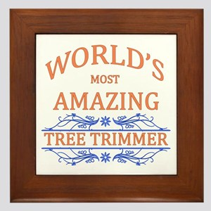 Tree Trimmer Framed Tile