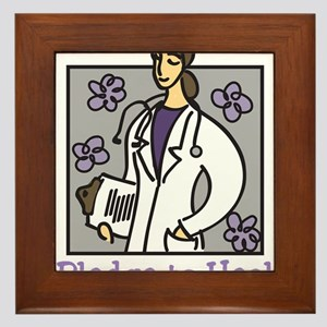 Pledge To Heal Framed Tile