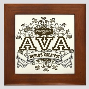 Property Of Ava Framed Tile