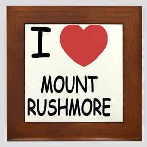 MOUNT_RUSHMORE Framed Tile