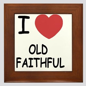 OLD_FAITHFUL Framed Tile