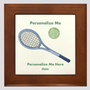 Personalized Tennis Framed Tile