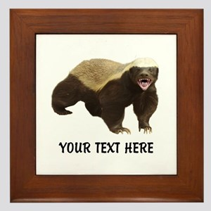 Honey Badger Customized Framed Tile