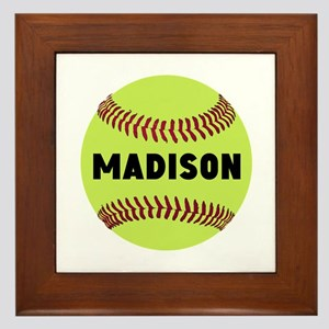 Softball Personalized Framed Tile