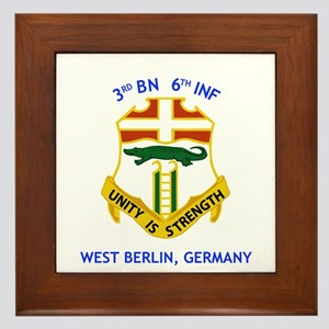 3rd BN 6th INF Framed Tile
