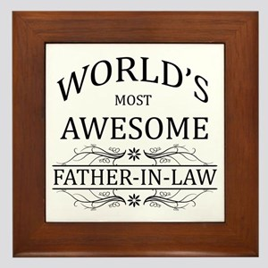 World's Most Awesome Father-in-Law Framed Tile