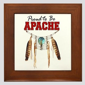 Proud to be Apache Framed Tile