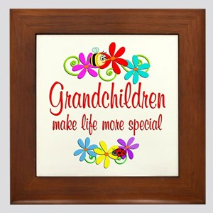 Special Grandchildren Framed Tile