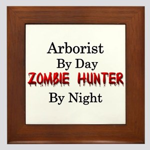 Arborist/Zombie Hunter Framed Tile