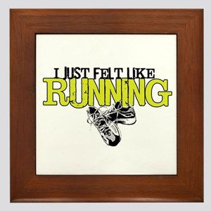 Felt Like Running Framed Tile