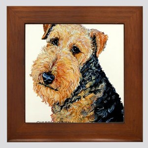Airedale Terrier Portrait Framed Tile