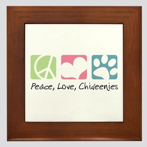 Peace, Love, Chiweenies Framed Tile