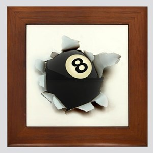 Billiards Burster Framed Tile