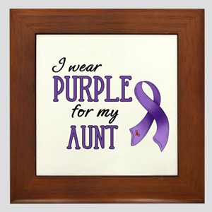 Wear Purple - Aunt Framed Tile