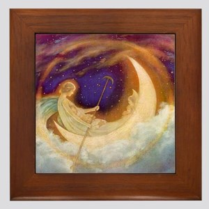 Moonboat to Dreamland Framed Tile