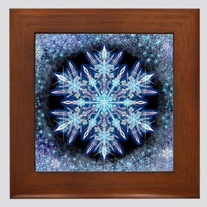 October Snowflake Framed Tile