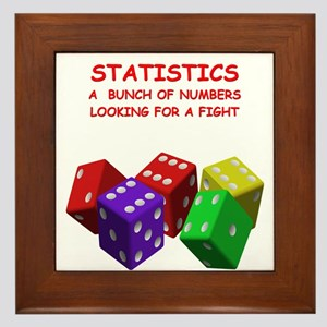 statistics joke Framed Tile