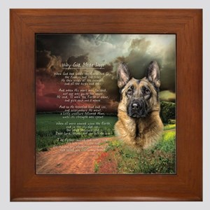 """Why God Made Dogs"" GSD Framed Tile"