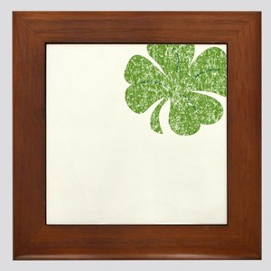 love_shamrock_white Framed Tile
