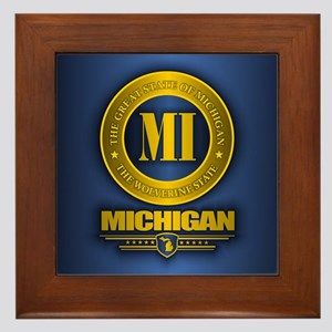 Michigan Gold Label Framed Tile