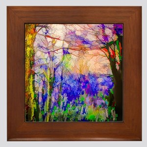Nature In Stained Glass Framed Tile