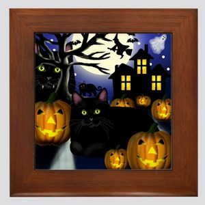 halloweencats copy Framed Tile