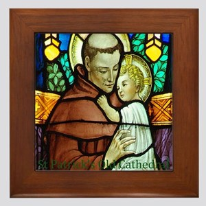 St Anthony Framed Tile