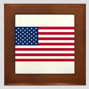 American Flag Framed Tile