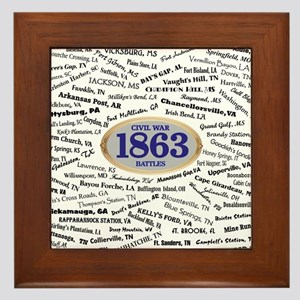Battles - 1863 Framed Tile