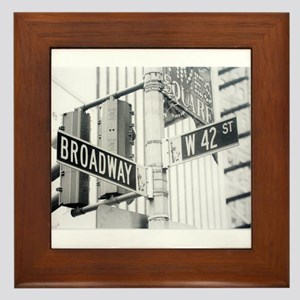 NY Broadway Times Square - Framed Tile