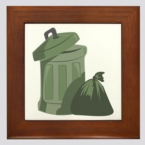 Trash Bin Framed Tile