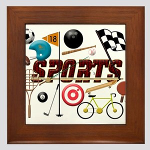 Sports Collage Framed Tile