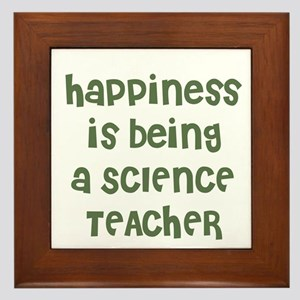 Happiness is being a SCIENCE  Framed Tile