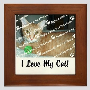 CUSTOMIZE Add Photo Love Cat Framed Tile
