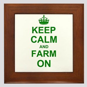 Keep calm and Farm on Framed Tile