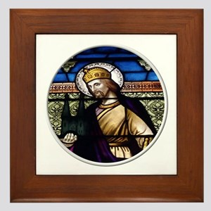 St. Henry Stained Glass Window Framed Tile