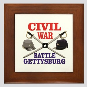 red blue battle of gettysburg Framed Tile