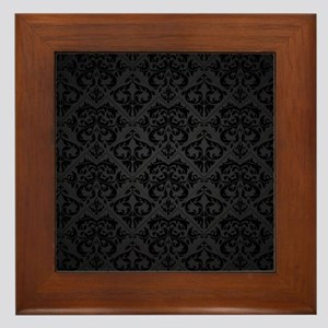 Elegant Black Framed Tile