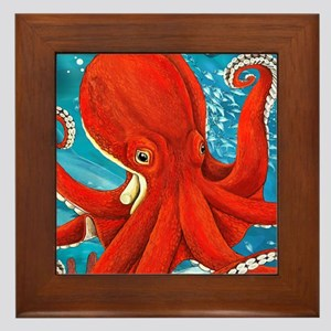 Octopus Painting Framed Tile