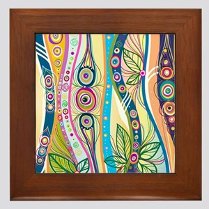 Colorful Flourish Framed Tile